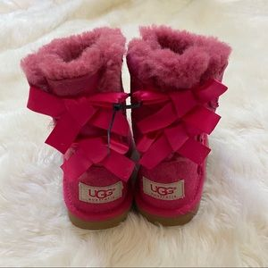 Toddler Girls Pink Bailey Bow Ugg Boots